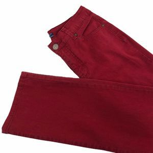 Bandolino Womens Jeans Red Stretch Mid Rise 8